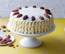 Tarta colibrí (Hummingbird layer cake)