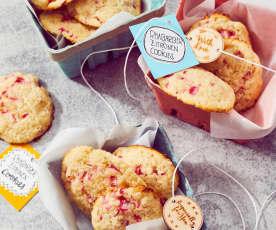 Rhabarber-Zitronen-Cookies