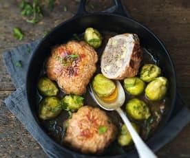 Paupiettes de veau au céleri et au camembert