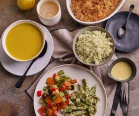"""Menu: Limonada """"Zero waste"""", menu completo e crumble de fruta da época"""