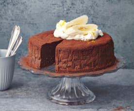 Bananen-Schoko-Mousse-Kuchen