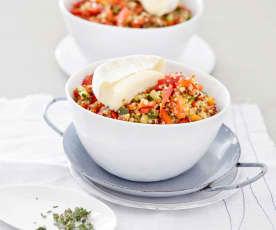 Quinoa-Salat mit Tomme