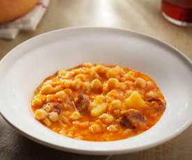 Kichererbseneintopf mit Gemüse und Chorizo