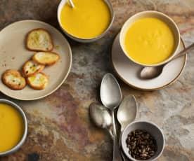 Sopa de alubias, calabaza y coco en cocción lenta TM6