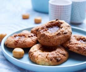 Cookies cœur bonbon au caramel