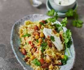 Persisches Pilaw mit Masala-Joghurt