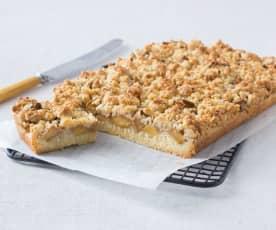 Feijoa crumble slice