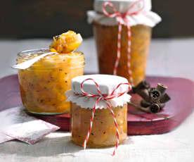Kaki-Orangen-Konfitüre mit Ingwer