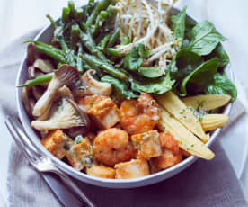Salat-Bowl mit Grünen Bohnen