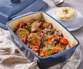 Chicken Coq au Vin (Betty)