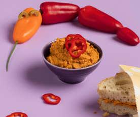 Orangeroter Aivar-Hummus