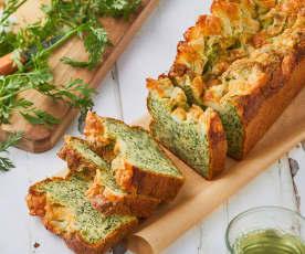 Cake aux fanes de carottes et mozzarella