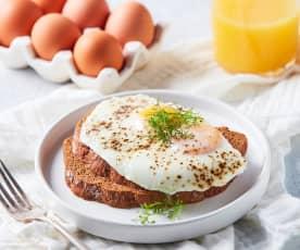 Huevos estrellados al vapor