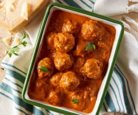 Chicken Meatballs with Creamy Tomato Sauce