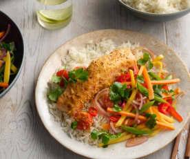 Thai Salmon Parcels with Jasmine Rice