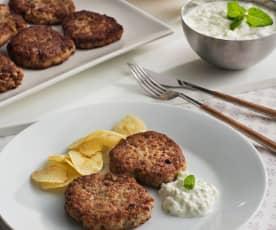 Filetes rusos con salsa tzatziki