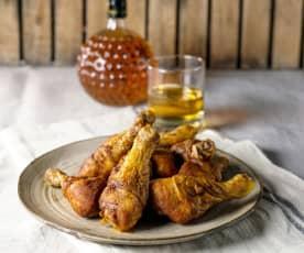 Grillowane podudzia z kurczaka w glazurze z whisky