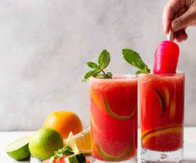 Mocktail de sandía y cítricos