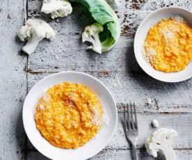 Cheesy tomato risotto (10-12 months)