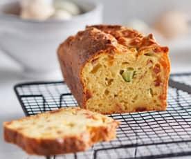 Cake chorizo-courgette