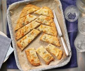 Dört Peynirli Yassı Ekmek