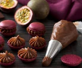 Maracuja-Schokoladen Ganache für Macarons