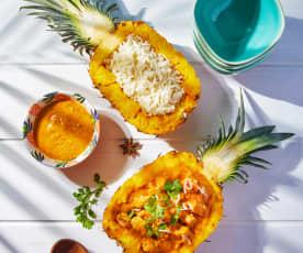 Pineapple Chicken Malvani Curry