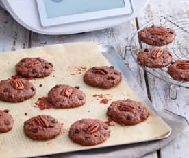 Biscuits chocolatés à la farine de châtaigne