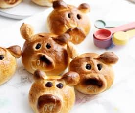 Piggy buns dolci