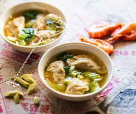 Soupe de wontons (soupe de raviolis)