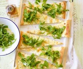 Pizza bianca s rukolou