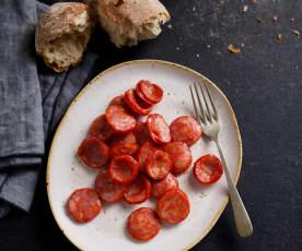Chorizo anbraten