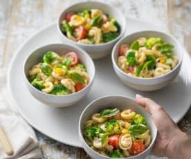 Vegie pasta salad with Parmesan dressing