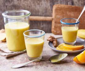 Smoothie orange-banane au curcuma