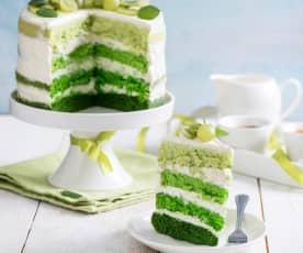 Zielony tort biszkoptowy (green ombre naked cake)