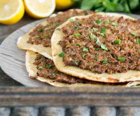 Spiced lamb flatbread