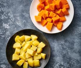 Cozer 200-600 g de batata ou batata-doce