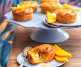Muffins mangue, cœur caramel