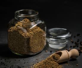 Mistura rústica de especiarias para pão