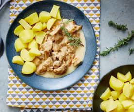 Sauté de veau au pineau-des-charentes et pommes de terre