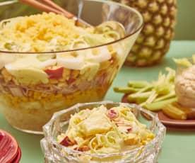 Ananas-Lauch-Schichtsalat