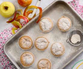 Muffins de casca de maçã