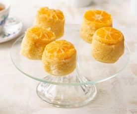 Mini plum cakes de mandarina, miel y jengibre