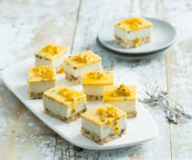 Passionfruit and coconut slice