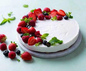 Cheesecake ligero con frutos rojos