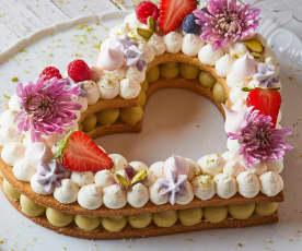 Cream tart a cuore (di LuCake)