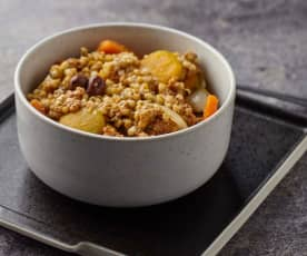 Verdure a Cottura Lenta con sorgo e pesto di pomodori secchi