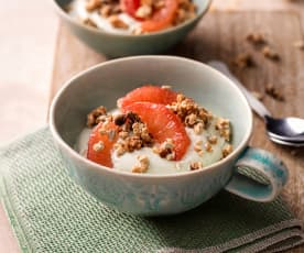 Matcha Yoghurt with Simple Granola and Grapefruit