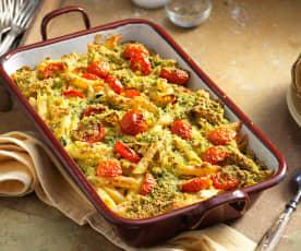 Zapečené těstoviny se zeleninou