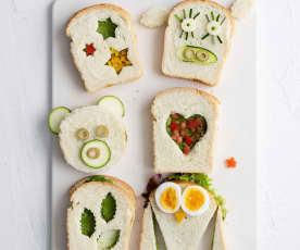 Sandwiches de pesto de espinaca